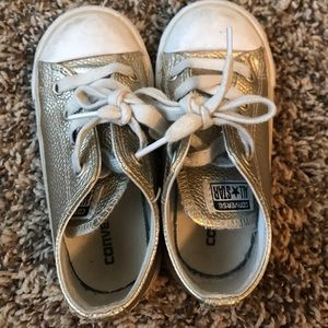 Toddler size 8 Gold Converse